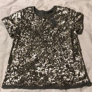Abercrombie and Fitch sequined shirt.